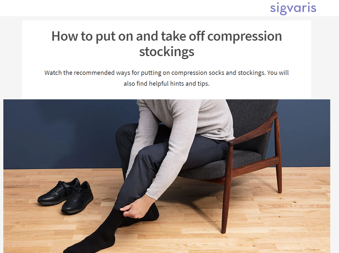 how to put on off stockings