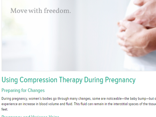 Using compression during pregnancy